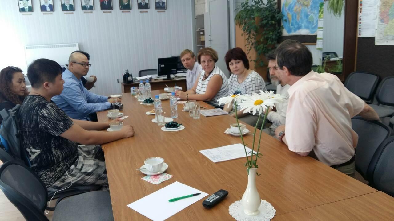 Приём китайской делегации в КГУ